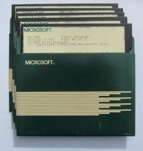 Dyskierki 5,25' z MS-DOS